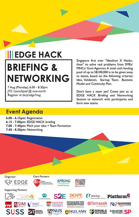 Donu0027t have a team yet? Come join us at EDGE HACK Briefing and - event agenda