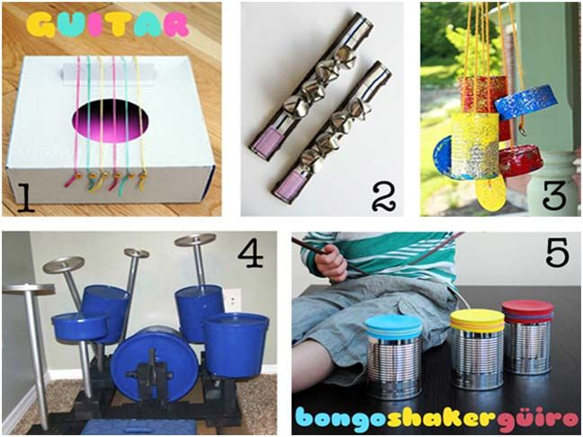 Diy Musical Instruments For Kids 5 Years Toys And Drums