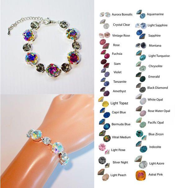 Choose Your ColourHandmade Swarovski Crystal Fancy Square
