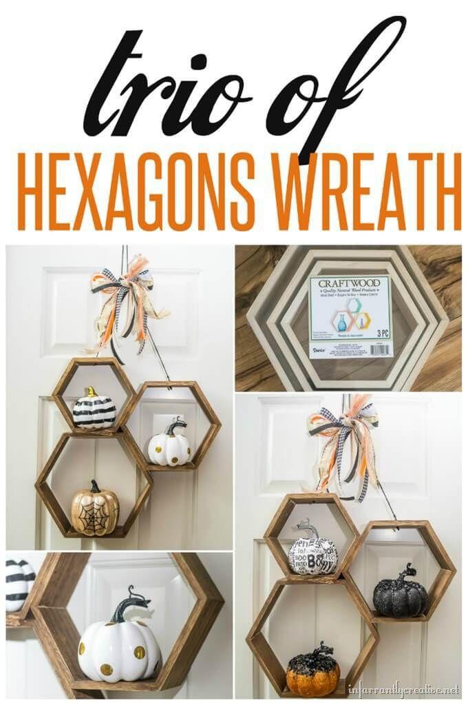 DIY Halloween Hexagon Wreath