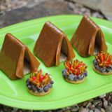Vamos de campingIdeas, Parties Snacks, Tents, Campfires Treats, Camping, Camps Snacks, Summer Treats, Camps Treats For Kids, Kids Food