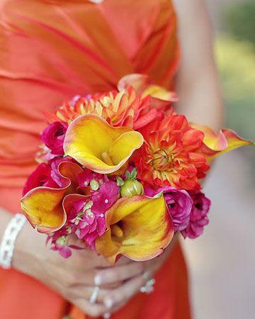 yellow, orange, pink bouquet