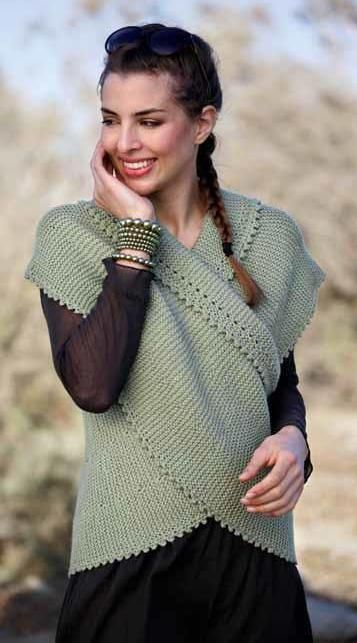 Sidsels kreative hjørne: En slags vest ..... See Ravelry.com for English, however tough to find actual pattern! See other post of long, arched piece.