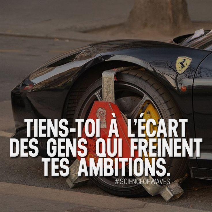 Tiens-toi à l'écart des gens qui freinent tes ambitions. Aime et commente si tu es d'accord! ➡️ @luxuvore for more! #scienceofwaves #citations #citation #réussite #motivation #inspiration #succès #ambition #millionnaire #entrepreneur