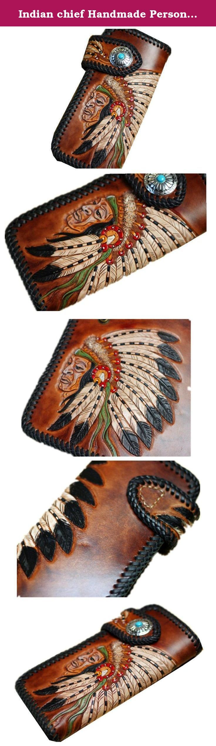 Indian chief Handmade Personalized Men's Leather Wallet Vegetable classics carving wallet purse card case Christmas Valentine's Day Gift. Handmade Personalized Men's Leather Wallet. This engraved leather wallet is the perfect men's gift. Design is elegant, composed in do not break.Delicate texture, decorative pattern, carver is exquisite.With the passage of time, it will present a belongs to the color of your personality and sense of history. It's a great gift for groomsmen, boyfriends...