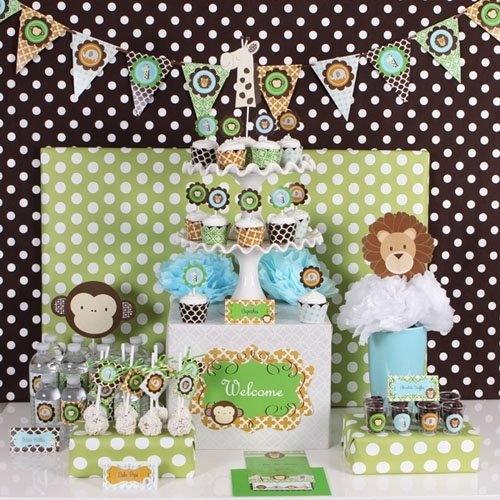 complete jungle baby shower in a box