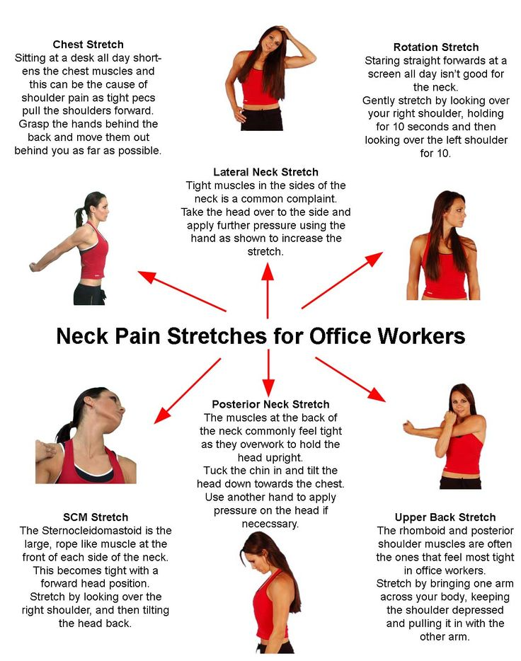Neck Pain Stretches for Office Workers - Much of my problem stems from spending too much time sitting in front of the computer. Thanks for the exercise reminder! #BACKANDNECKHELP http://pinterest.com/sweetkeet/thanks-to-back-and-neck-care-centre/
