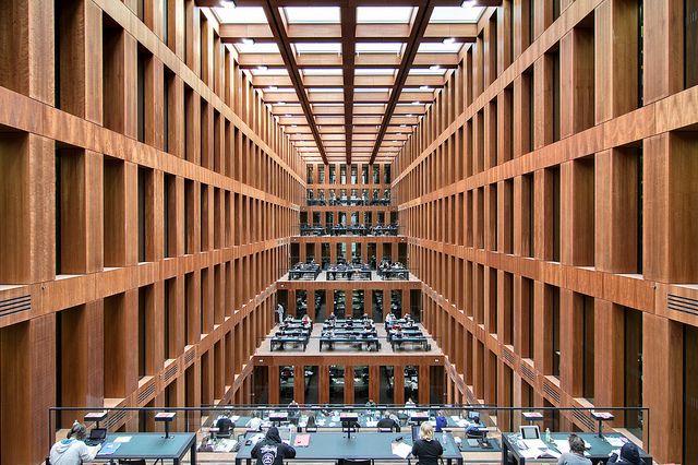 Jacob-und-Wilhelm-Grimm-Zentrum by Max Dudler, Humboldt-Universität zu Berlin - Berlin, Germany