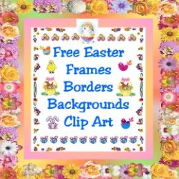 All you Need to Make Your Own Easter Cards & Page Borders.