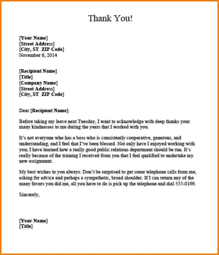 Best 25+ Appreciation letter to boss ideas on Pinterest New - professional thank you letters