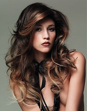 Fun Hair Colors For 2013   Hair Color Ideas Two Tone   Hair Trends - really love the way this is highlighted, from the bangs to the parts underneath