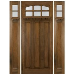 Elegant Craftsman Style Entry Doors with Sidelights