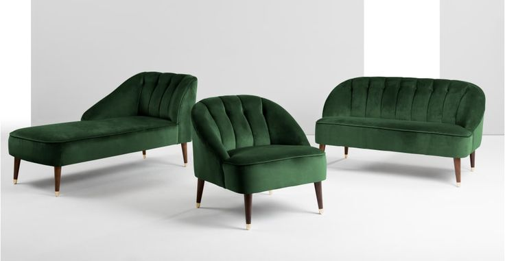 Margot Accent Chair Forest Green Velvet In 2019 Green