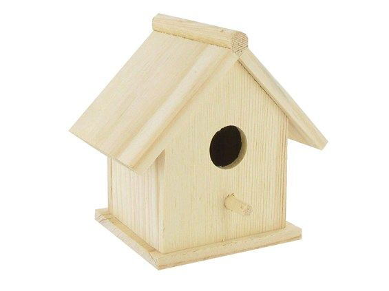 Hanging from trees!?!?!  Get from Hobby Lobby, paint, distress... hang in trees! Love.   Wood Traditional Birdhouse