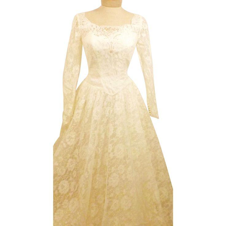 70's Vintage Alfred Angelo Original Wedding Gown Size 4