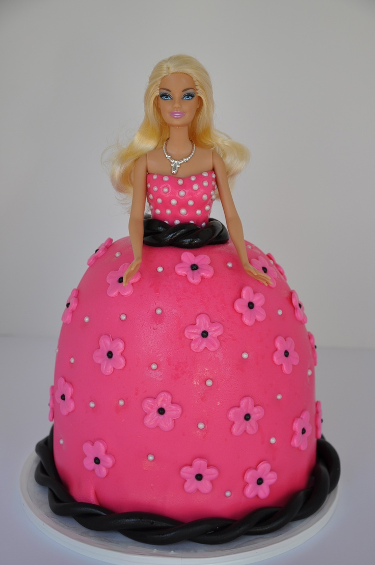Hot Pink And Black Barbie Cake Cakes By Lizette