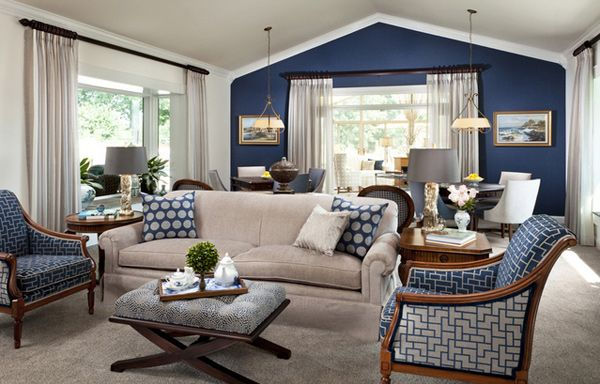 15 Lovely Living Room Designs With Blue Accents Home Design Lover Accent Walls In Living Room Beige Living Rooms Blue Accent Wall Living Room