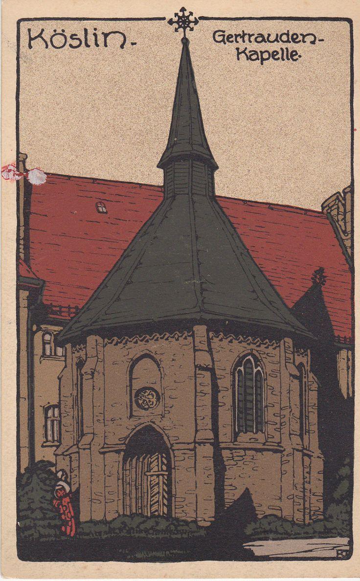 Köslin, Steindruck, Gertraudenkapelle