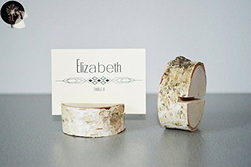 Set of 10 birch place card holders, name card holders, rustic wood card holder, shabby chic, birch card holder, 10 card holders, scandinavian card holders, rustic chic, natural card holders - Venue and reception decor (*Amazon Partner-Link)