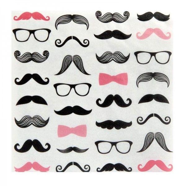 Pink Moustache Party Supplies - Moustache Party Supplies Australia