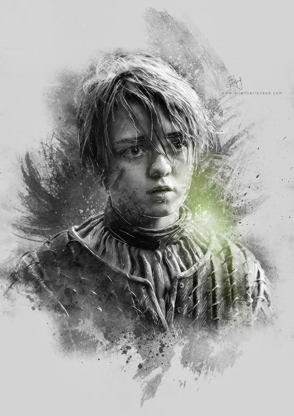 Game of Thrones Illustrations by Etienne Ripzaad, via Behance