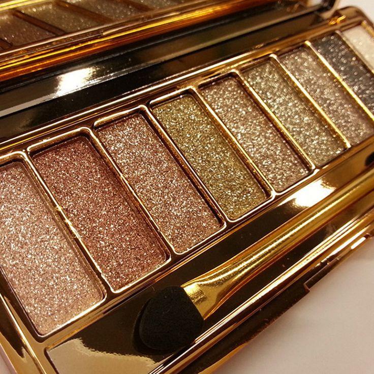 2016 merek makeup 9 warna berlian terang eyeshadow naked smoky palette kosmetik set maquillage profesional make up dengan sikat