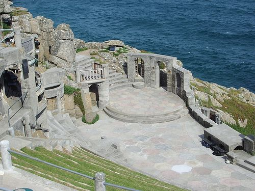 Minnack Theatre, Porthcurno, Cornwall. Probabaly one of the most amazing backdrops to this open air theatre.