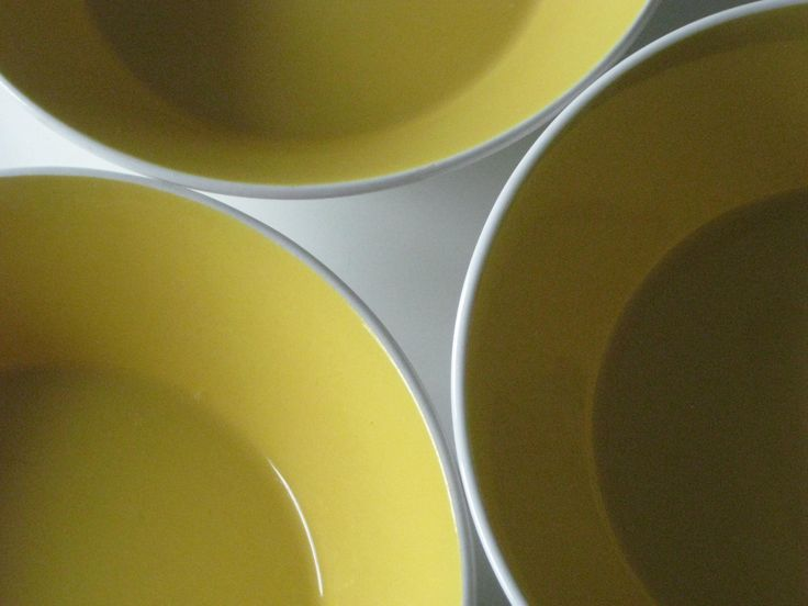 Vintage Mikasa Duplex By Ben Siebel Sunshine Yellow bowls x3 by Wavalee on Etsy