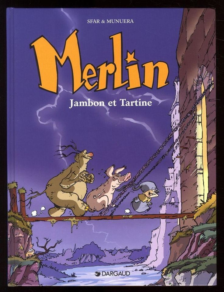 MERLIN   6 volumes  série complète   SFAR / MORVAN / MUNUERA   DARGAUD  EO TBE