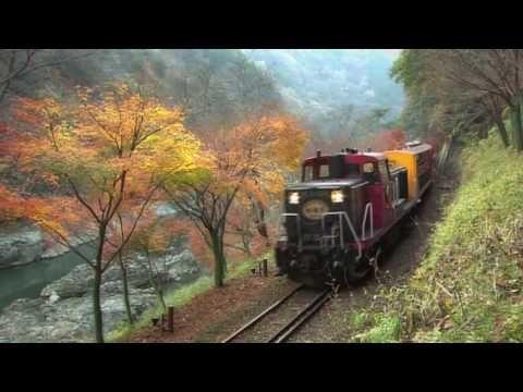 秋の嵯峨野トロッコ列車(京都・嵯峨野観光鉄道トロッコ列車) - YouTube Arashimaya Tram Tour