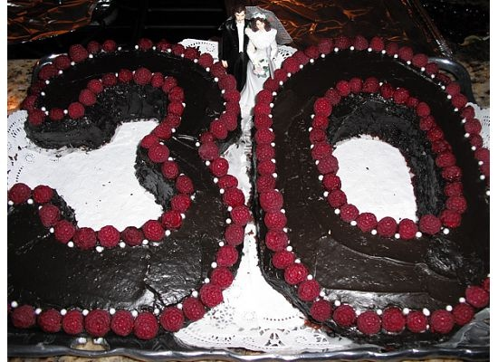 30th wedding anniversary cake idea