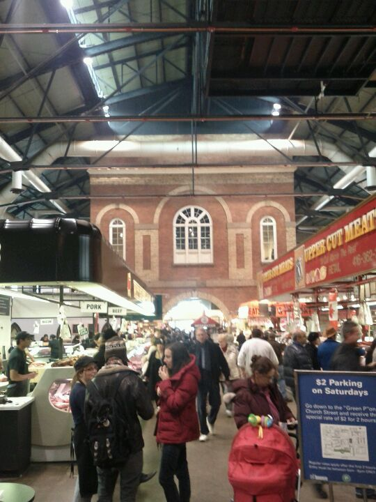 We are lucky enough to be just a minute away from the BEST Farmer's Market in the world!  Closed Sunday-Monday.  St. Lawrence Market in Toronto, ON