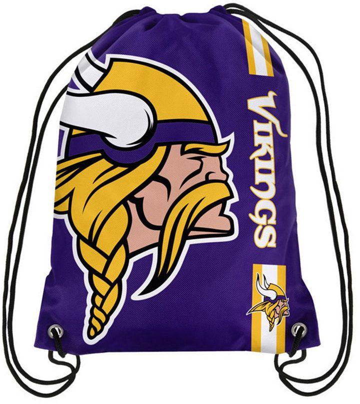 Forever Collectibles Minnesota Vikings Big Logo Drawstring Bag