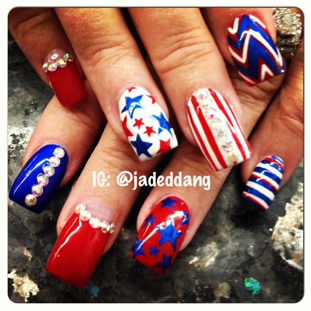 192 best fourth of july patriotic nail design images on for 4th of july nail art decoration flag