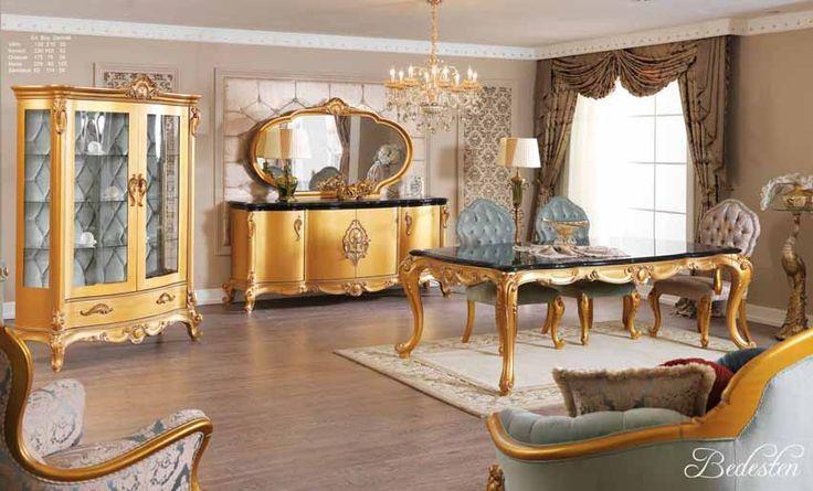 Alanya Lüks Klasik Yemek Odası Takımı.  #YemekOdası #DiningRoom #Decoration #Ev #Dekorasyon #Moda #Mobilya #Furniture