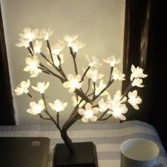 Mini flor del ciruelo LED Luz flor del árbol de la noche de Navidad escritorio del hogar de la lámpara de la decoración del festival
