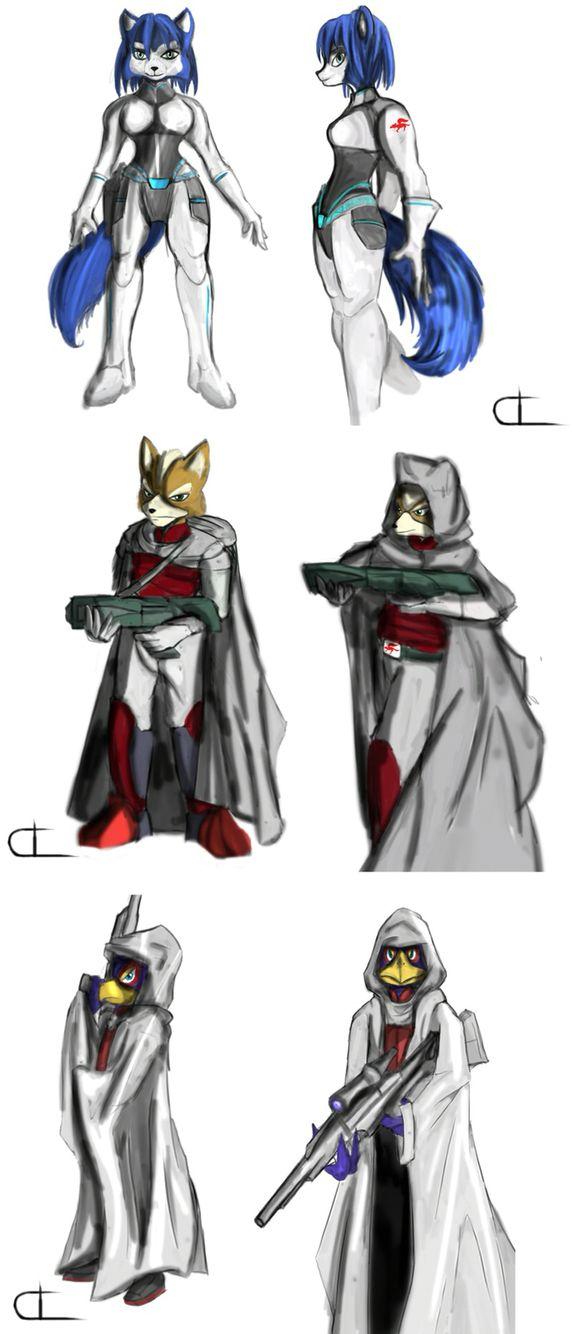 Starfox alternate costumes