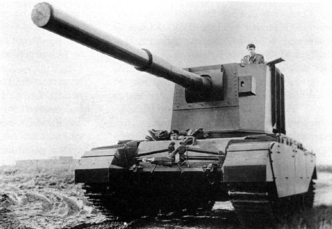 FV4005 Stage 2 - British 183 gun tank destroyer with turret.
