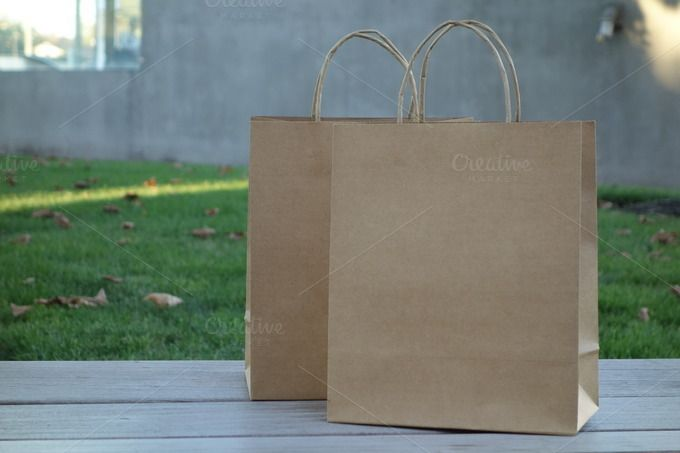 Craft Paper Shopping Bags - Beauty & Fashion - 1