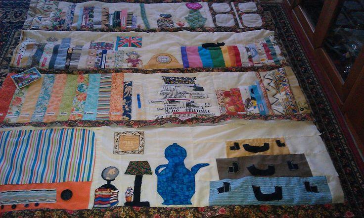 book quilt, four shelves so far