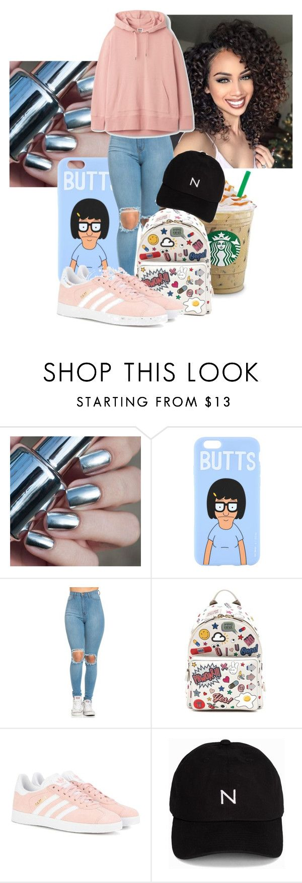 """""""Untitled #146"""" by millanj-fashion on Polyvore featuring Anya Hindmarch, adidas Originals and New Black"""