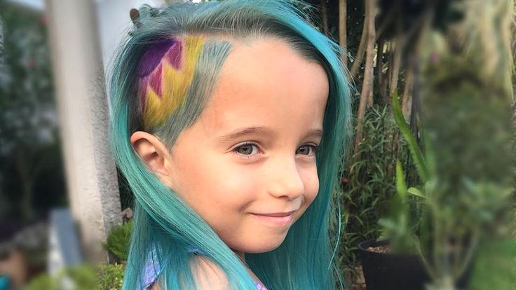 Is 6 too young to have rainbow dyed hair?
