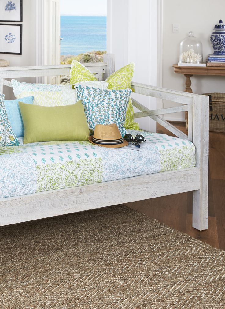 Warm, sunny afternoons just got better with this day bed. Exclusive to Bedshed, this hand-painted seat will bring the beach right into your bedroom.