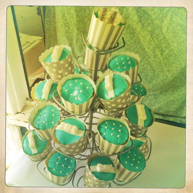Breakfast @ Tiffany's Themed Hen's Party - Tiffany Cupcakes