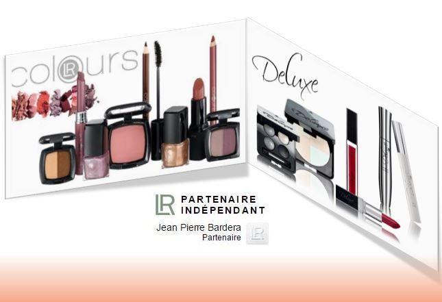 Voici les 2 gammes de maquillages de chez LR Health & Beauty Systems. Les gammes Colours et Deluxe sont présentées de la page 4 à 13 du catalogue Beauté: http://fr.calameo.com/read/00000635392be082eff1a?authid=ZSae9HEgh4Mi   N'étant pas un spécialiste lol, je vous laisse les découvrir. Tout ce que je peux affirmer, c'est que mes filles en sont fans !! Intéressée me contacter MP  http://jpbardera.lr-partner.com/