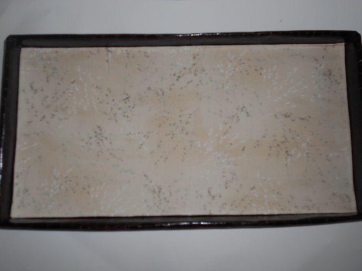 Plateau / vide poches marron et tissu japonais : Accessoires de maison par toutankharton36