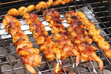 BBQ Bacon Wrapped Shrimp-On the Grill
