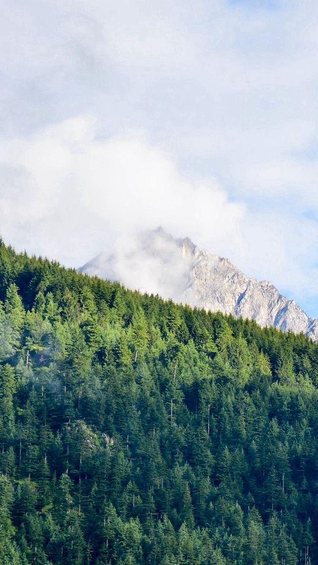 Nature Mountain Green Sunny Summer Iphone Wallpapers Whatsapp