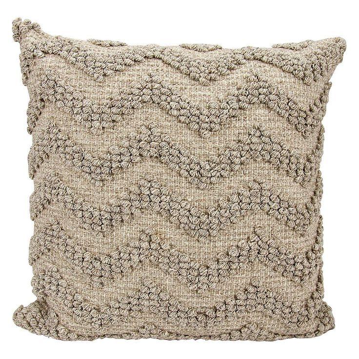 Joseph Abboud Loop Chevron Throw Pillow, Grey