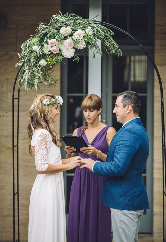 Kylie and Michael's simple and elebant wedding ceremony.